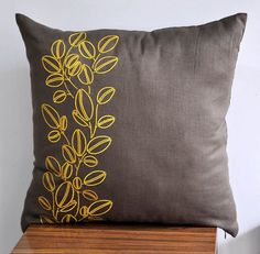 Coffee Bean Linen Pillow $22