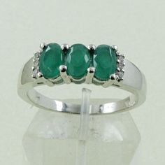 EMERALD AGATE & CUBIC ZIRCONIA STONE 925 HANDMADE STERLING SILVER RING #SilvexImagesIndiaPvtLtd #Statement