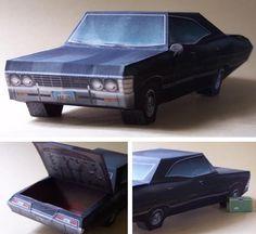 PAPERMAU: Supernatural - 1967`s Chevrolet Impala Paper Model...
