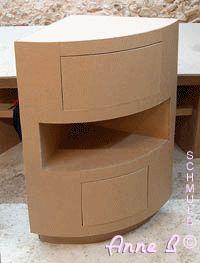 1000 images about muebles de carton on pinterest - Meuble d angle avec tiroir ...