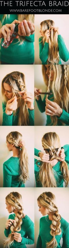 The Trifecta Braid Hairstyle Tutorial For Long Hair - Toronto, Calgary, Edmonton, Montreal, Vancouver, Ottawa, Winnipeg, ON