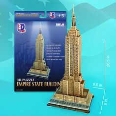 Empire State Building 3D Puzzle - 55 Pieces