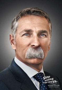 Swiss Smile Dental Clinic - The Swiss Smile Dental Clinic ad campaign shows the lengths people will go to hide their unsightly teeth. In this case, it involves lengthy mustach...