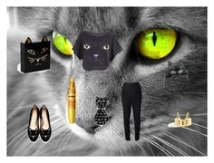 """""""feeling catty"""" by laylak123 ❤ liked on Polyvore featuring Helmut Lang, Charlotte Olympia and Reeds Jewelers"""