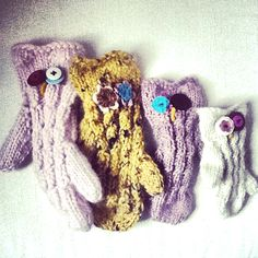 coming soon - owlish mitts to knit