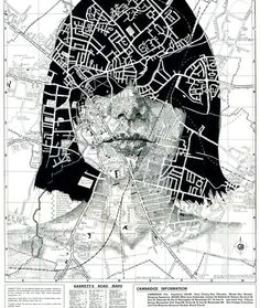 Faces Drawn Onto Maps by Ed Fairburn