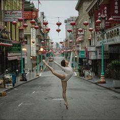 #Ballerina - @mikofogarty in #Chinatown #SanFrancisco #Bodysuit by @wolfordfashion #Wolford #WolfordBodywear #ballerinaproject_ #ballerinaproject #ballet #dance