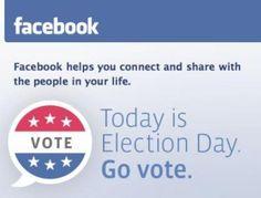 Anuncio de Facebook movilizando el día de la votación.