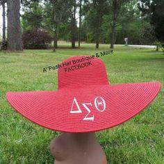 Delta Sigma Theta sun hat