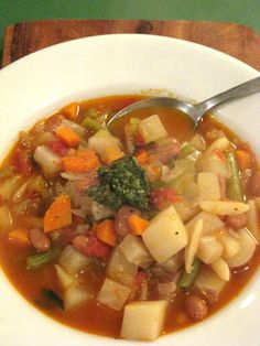 #Recipe: Hearty Minestrone.