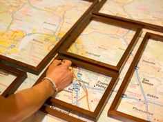How to Create Fractured, Framed Map Art | Easy Crafts and Homemade Decorating & Gift Ideas | HGTV