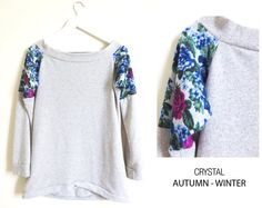 SOLD OUT Designed in 2012 Made to Order Women Gray sweater Combined  QUEBEC ♥   Limited by holacrystal
