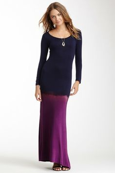 Go Couture Scoop Neck Dip-Dye Dress by Non Specific on @HauteLook