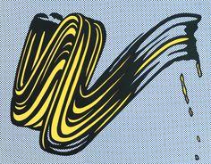 'Brushstroke', Roy Lichtenstein | Tate