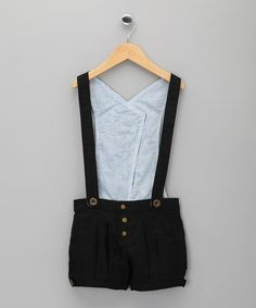 Take a look at this Black Lolita Suspender Shorts - Toddler & Girls by La faute à Voltaire on #zulily today!