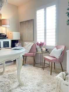 Reed Dining Chair via #bhglivebetter influencer @TheMellionaireHouse. #homeoffice #bedroomofficeideas #workfromhomeideas #smalloffice #officecorner #homeofficestyle #glamhomeoffice #pinkhomeoffice Dining Table Height, Dining Chairs, Only At Walmart, Affordable Furniture, Small Office, Better Homes And Gardens, Quality Furniture, Home Collections, Living Spaces