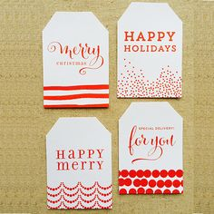 Free Printable Christmas Gift Tags | Design Corral | Wedding Favors and Accessories