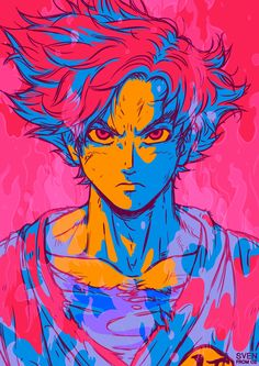 A new poster series, a new character, a new style! This time it's Dragon Ball Super's Son Goku as a Super Saiyan God! Edit: Colors have been tweaked to create unison with Vegeta's design  You can get this design on custom posters, prints, tees and...