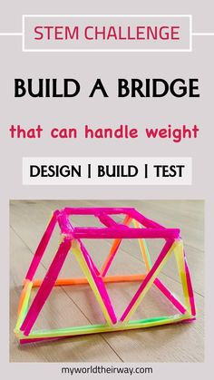 Who's not intrigued by bridges? While driving across various bridges, every child is amazed at these engineering wonders and often wonders how engineers create these real life structures. And a perfect way to teach children the architecture and engineering principles behind various types of bridges is by encouraging them to build themselves. A wonderful STEM activity where kids design , build and check their bridge model made of plastic straw.