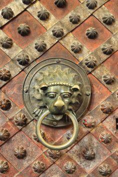 Saint Vitus Cathedral Prague, Prague castle, Czech Republic, interior - Wenceslas´s Chapel - detail of door