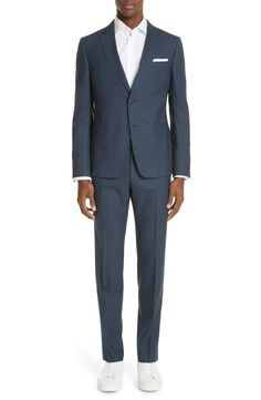 Z Zegna Trim Fit Solid Wool Travel Suit   Nordstrom African Dashiki Dress, Suit Fashion, Mens Fashion, Houndstooth Jacket, Double Breasted Trench Coat, Skinny Fit Jeans, Online Shopping Stores, Mens Clothing Styles, Sport Coat