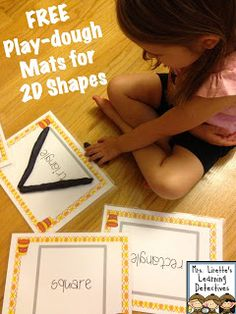 Mrs. Lirette's Learning Detectives: 2D Shapes Play-dough Mats FREEBIE & Weekly Plans