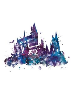 Harry Potter Drawings, Harry Potter Art, Harry Potter Characters, All Poster, Poster Prints, Classe Harry Potter, Harry Potter Friends, Castle Painting, Hogwarts Crest
