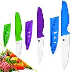 7.19$  Watch more here - High-grade ceramic knives paring utility slicing kitchen knives sets zirconia cooking knives three-piece set kitchen accessories   #aliexpress
