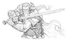 Blademaster pencils by Max-Dunbar.deviantart.com on @deviantART