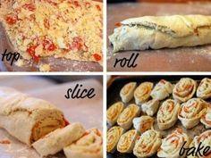 pizzette arrotolate preparazione