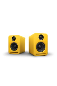 Nocs Airplay speakers. They're wireless...and yellow!