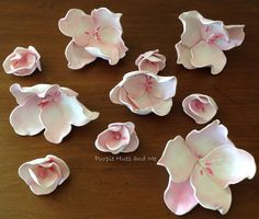 Home Accessories Wall Decoration Wall Hangings Creative Ceramic Flower Wall Murals Removable Wall Decals Paper Flowers Diy, Handmade Flowers, Flower Crafts, Fabric Flowers, Foam Crafts, Paper Crafts, Garden Frogs, Cherry Blossom Flowers, Ceramic Flowers