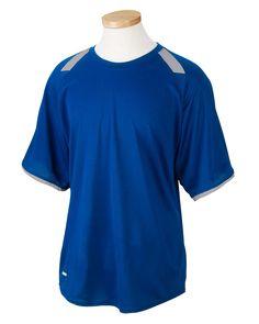 efa7fd599 Russell Athletic Mens Dri-Power Performance Polyester Colorblock Short  Sleeve Crewneck T-Shirt Black/Grey 6B6DPM