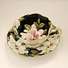 Paragon Floral Tea Cup and Saucer - By Appointment to HM The Queen and HM Queen