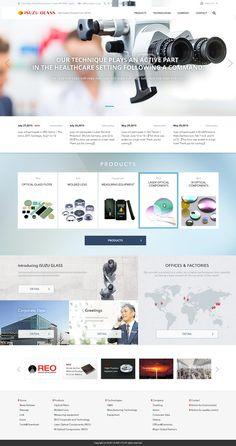 ahumさんの提案 - 特殊レンズ製造メーカーのホームページデザイン(デザインのみOK)   クラウドソーシング「ランサーズ」