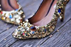 Dolce & Gabbana - Embellished shoes diy + gold sequins and gem dolce and gabbana shoes diy pumps by ...love Maegan, via Flickr