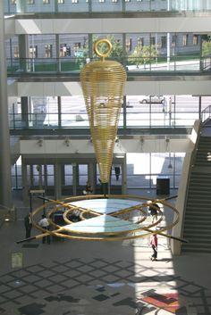Arts and Venue Denver | Public Art | Denver Public Art Collection | Civic Source Point  Larry Kirkland  Aluminum and Dichroic Glass  Wellington E. Webb Municipal Building