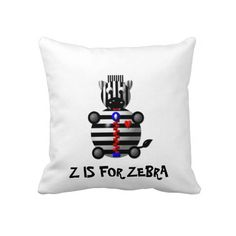 Cute Zebra with Zipper Pillow.  Prices start at $52.90
