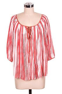 Tie Front Sheer Blouse