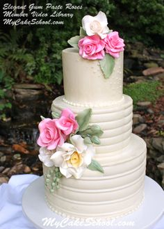 Learn to make these beautiful gum paste roses in MyCakeSchool.com's Member Video Tutorial Library!