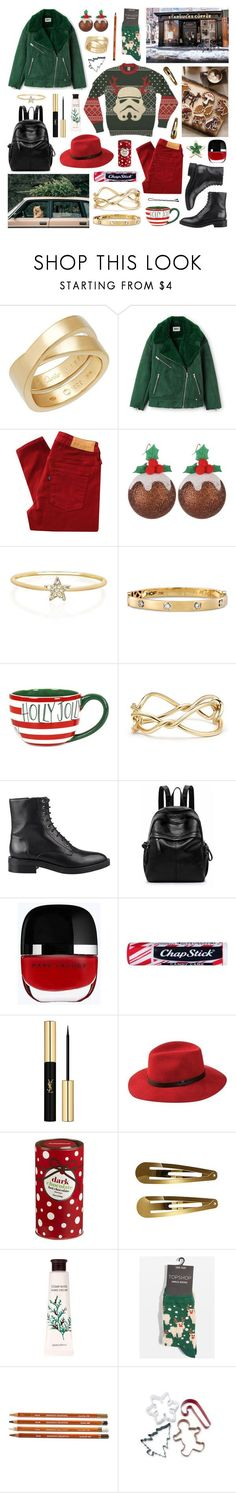 """""""maybe i was naughty once but now i'm nice"""" by surma ❤ liked on Polyvore featuring Cartier, Levi's Made & Crafted, George, EF Collection, Coton Colors, David Yurman, Steffen Schraut, Marc Jacobs, Chapstick and Yves Saint Laurent"""