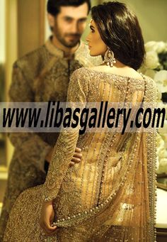 Elegant Bridal Dress, Wedding Lehenga, Sharara, Gharara 2015 Online by Faraz Manan in UK USA Canada Australia Saudi Arabia Bahrain Kuwait Norway Sweden New Zealand Austria Switzerland Germany Denmark France Ireland Mauritius and Netherlands  www.libasgallery.com