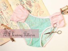 Ohhh Lulu 1305 Sophia Ruched Bikini Panties Multi-size Digital PDF Sewing Pattern