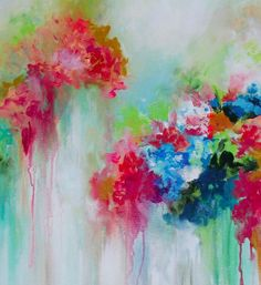 Tulipmania Original Floral Abstract Painting Art by lanasfineart