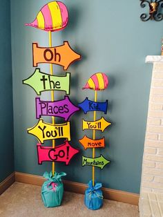 Dr. Seuss Oh the Places You'll Go Party Sign | Pretty My Party