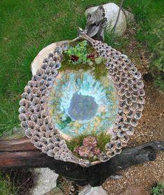 Ceramics Projects, Pottery Designs, Bird, Garden, Outdoor Decor, Cement, Sculptures, Garten, Birds