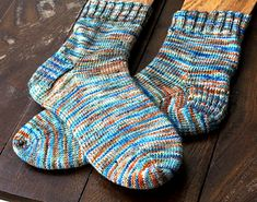 """There are so many ways to knit a sock. Just about every sock-knitter you meet will have a favorite go-to """"recipe"""". While I've tried many styles and techniques, I always come back to knitting mine cuff-down, with a reinforced heel-flap and short-row-heel-turn. I love this method because it's simple enough for auto-pilot knitting, and incorporates enough techniques to keep things interesting."""