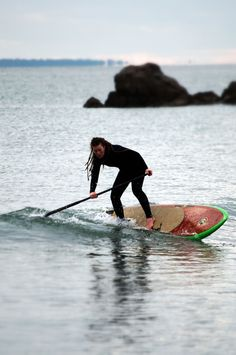 Kirsty playing on her new board...
