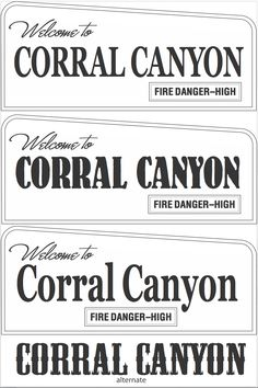 Routed signs by Strata. Custom sign for Corral Canyon park in California. www.customoutdoorwoodensigns.com