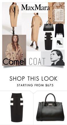 """Icon: Max Mara Camel Coat"" by anitamauro ❤ liked on Polyvore featuring MaxMara"